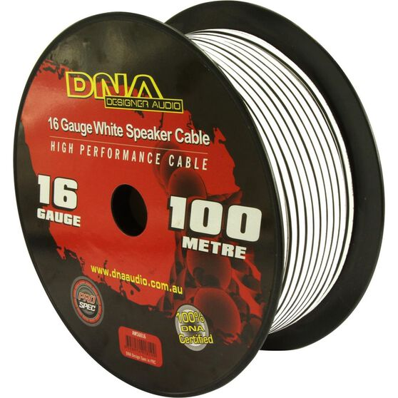 DNA CABLE 16 GAUGE SPEAKER CABLE WHITE 100MTR, , scanz_hi-res