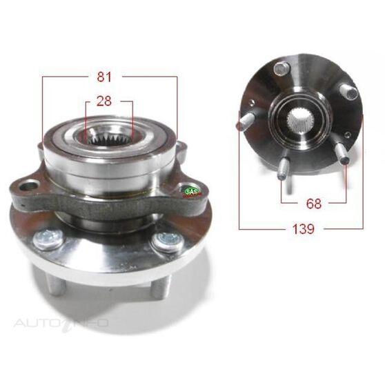 Hyundai I30 12- Front wheel hub, , scanz_hi-res