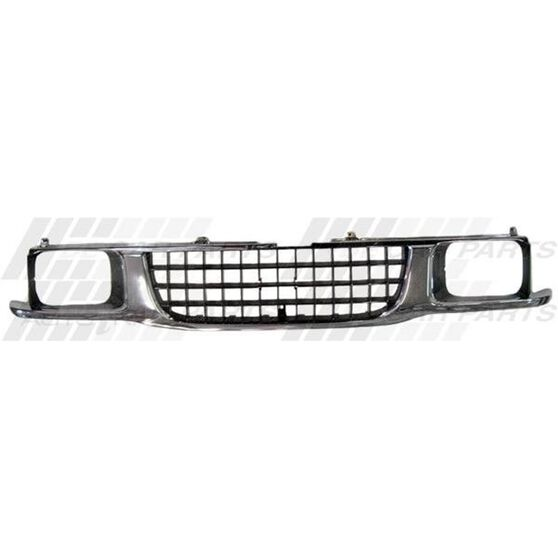 GRILLE - CHROME/BLACK - WITH BEZELS, , scanz_hi-res
