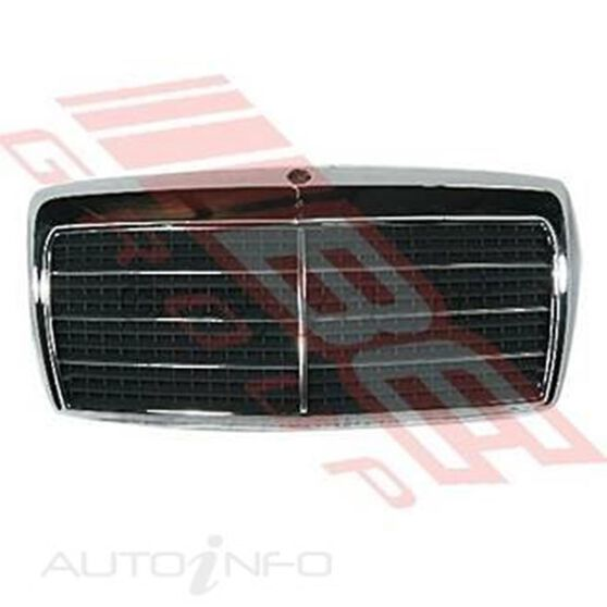 GRILLE - W/FRAME - CHROME/BLK