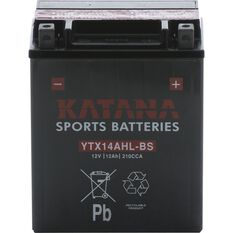 YTX14AHL-BS Katana Motorcycle Battery, , scanz_hi-res