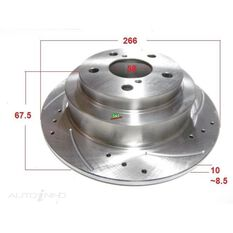 Rotor 266x66.8x10   Forester,Impreza,Liberty,Outback,WRX Rear Rotor, , scanz_hi-res