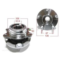 Nis Murano Z50 05-06 Front Hub ABS, , scanz_hi-res