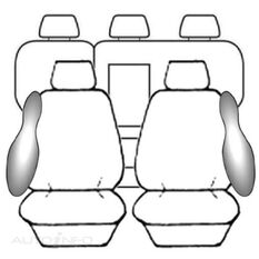 MITSUBISHI ASX XA WAGON - 2WD / 4WD / ASPIRE (07/2010 - ON) DEPLOY SAFE BLACK, , scanz_hi-res