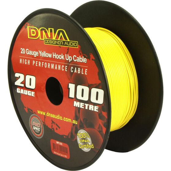DNA CABLE 20 GAUGE YELLOW HOOK UP CABLE 100MTR, , scanz_hi-res