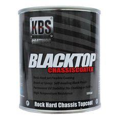 KBS BLACKTOP PERMANENT UV TOP COAT SATIN BLACK 500ML, , scanz_hi-res