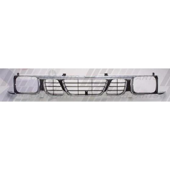 GRILLE - CHROME/BLACK - WITH BEZELS
