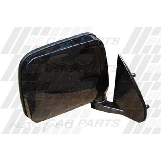 DOOR MIRROR - L/H - BLACK - CNR MNT, , scanz_hi-res