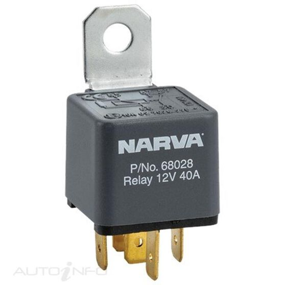 RELAY 24V 5PIN 30 AMP DIODE