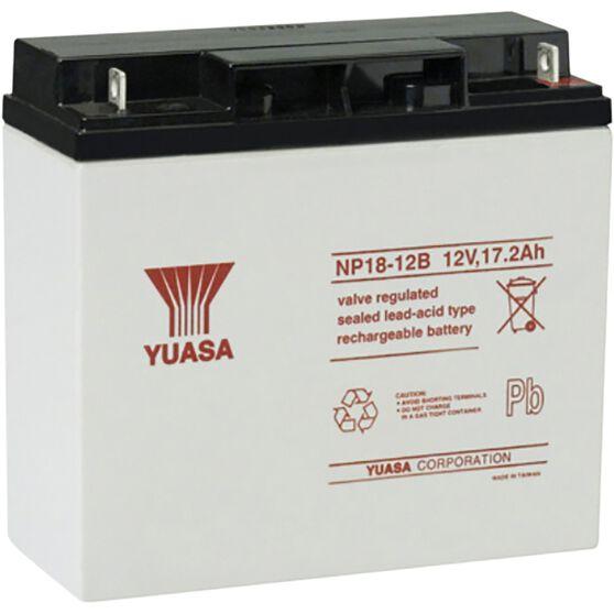 NP18-12BFR Yuasa NP VRLA Battery, , scanz_hi-res