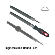 FILE 150MM HALF ROUND SMOOTH CARDED