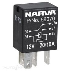 RELAY 12V 5 PIN 20/10AMP, , scanz_hi-res