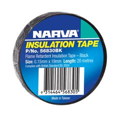 TAPE PVC FLAME RETARD BLACK