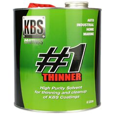 KBS #1 THINNER HIGH PURITY SOLVENT 4 LITRE, , scanz_hi-res
