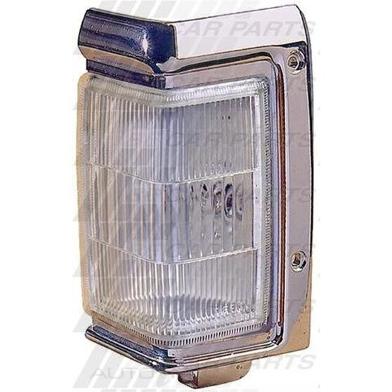 CORNER LAMP - L/H - CHROME TRIM
