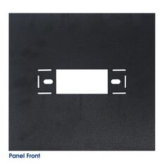 ABS PLASTIC SHEET 348 X 348MM BLACK WITH DIN HOLE, , scanz_hi-res