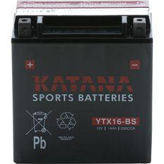YTX16-BS Katana Motorcycle Battery