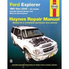 FORD EXPLORER AND MAZDA NAVAJO HAYNES REPAIR MANUAL COVERING FORD EXPLORER AND MAZDA NAVAJO (1991 THRU 2001), MERCURY MOUNTAINEER (1997 THRU 2001), EXPLORER SPORT (2000 THRU 2003), AND EXPLORER SPORT TRAC (2001 THRU 2005), , scanz_hi-res
