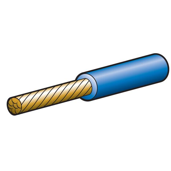 CABLE SINGLE 6MM 47A 30M BLUE