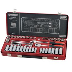 SOCKET SET 3/8INCH DRIVE MET/AF 43PC, , scanz_hi-res