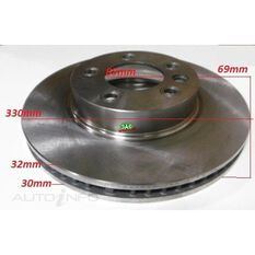 """Rotor 330x69x32  VW Toureq 02-On 17"""" Wheels Front Rotor, , scanz_hi-res"""