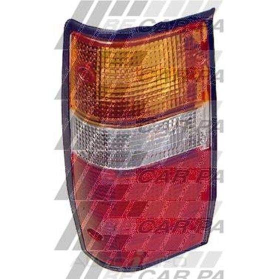 REAR LAMP - L/H - W/BLACK RIM