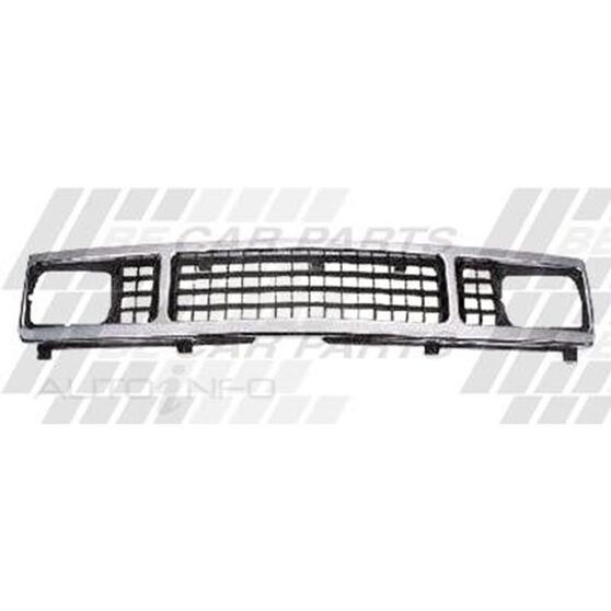 GRILLE - CHROME/BLACK - SQUARE H/L