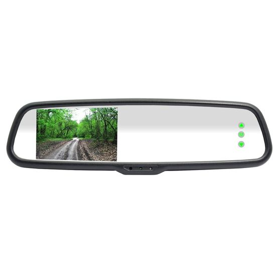 """RM43B 4.3"""" PREMIUM OEM REARVIEW MIRROR RCA LCD MONITOR/RMB19 BASEPLATE, , scanz_hi-res"""