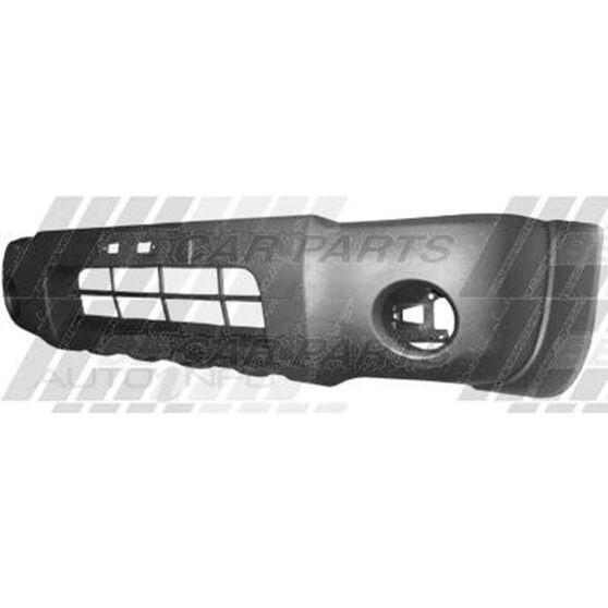 FRONT BUMPER - BLACK - W/FOG LAMP HOLE, , scanz_hi-res