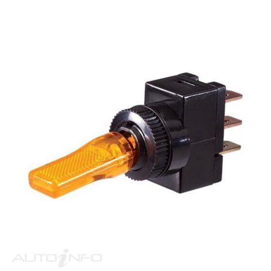SWITCH PLASTIC TOGGLE LED AMBR
