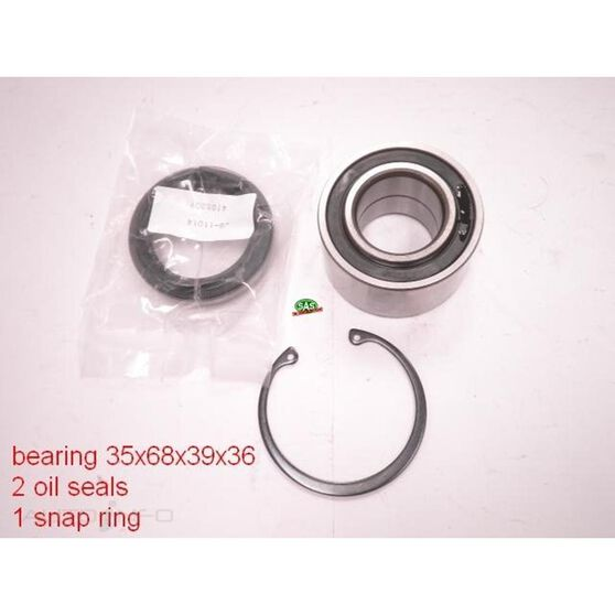 Nissan March 92-02 Front Wheel bearing kit, , scanz_hi-res