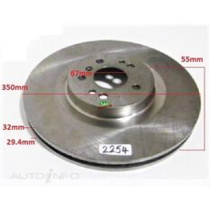Rotor 350x55x32  M/Benz GL/M/R-Class W164 05- Front Rotor, , scanz_hi-res