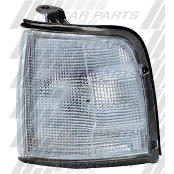 CORNER LAMP - R/H - CLEAR/BLACK RIM