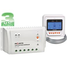 SOLAR CONTROLLER 12/24V 30A WITH REMOTE