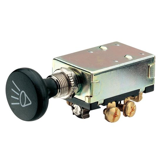 SWITCH PUSH PULL 30AMP H/LAMP