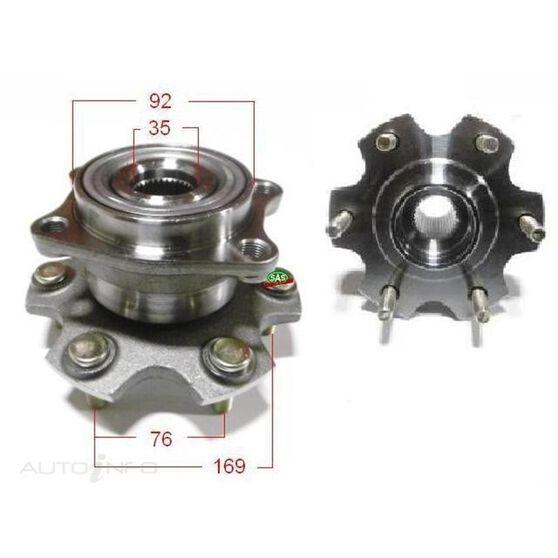 Mitsubishi Pajero 06- rear wheel hub, , scanz_hi-res