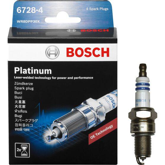 Bosch Platinum Spark Plug, 6728-4, 4 Pack, , scanz_hi-res