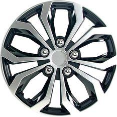 Street Series Wheel Covers - Venom 13in, Black / Silver, 4 Pack, , scanz_hi-res
