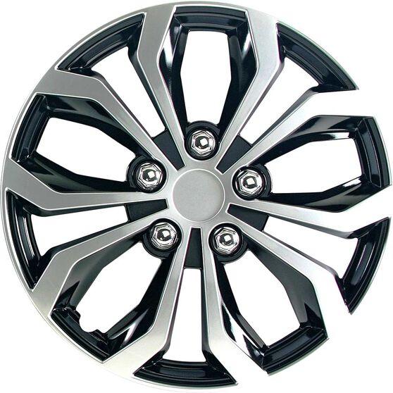 Street Series Wheel Covers - Venom 15in, Black / Silver, 4 Pack, , scanz_hi-res