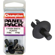 Champion Plastic Push Rivets - PP66, Panel Pack, , scanz_hi-res