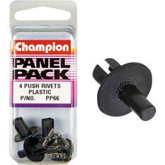 Champion Plastic Push Rivets - PP66, Panel Pack, , scanz_hi-res