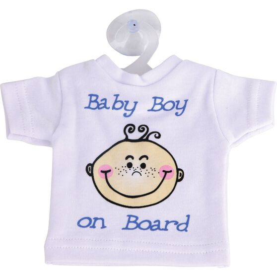 Little Car Baby on Board T-Shirt - Blue, , scanz_hi-res