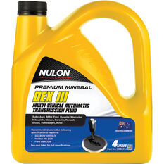 Nulon ATF DX-III Automatic Transmission Fluid 4 Litre, , scanz_hi-res