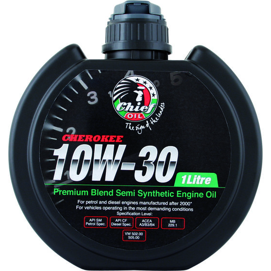Chief Cherokee Engine Oil - 10W-30 1 Litre, , scanz_hi-res