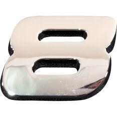 3D Chrome Badge - Number 8, , scanz_hi-res