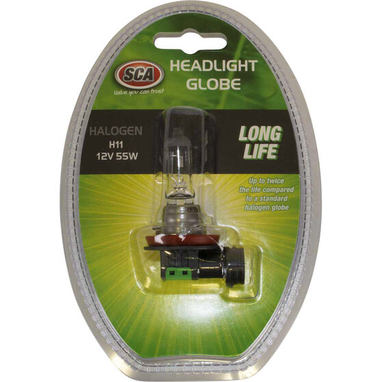 SCA Performance Globe - Long Life, H11, 12V, 55W, , scanz_hi-res