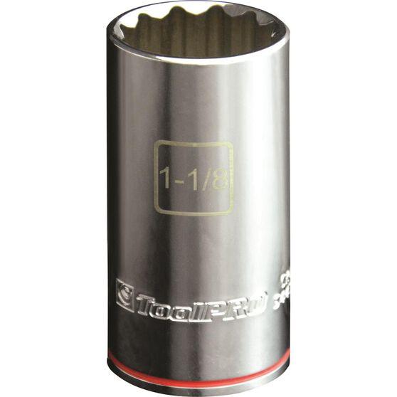 ToolPRO Single Socket - Deep, 1 / 2 inch Drive, 1 1 / 8 inch, , scanz_hi-res