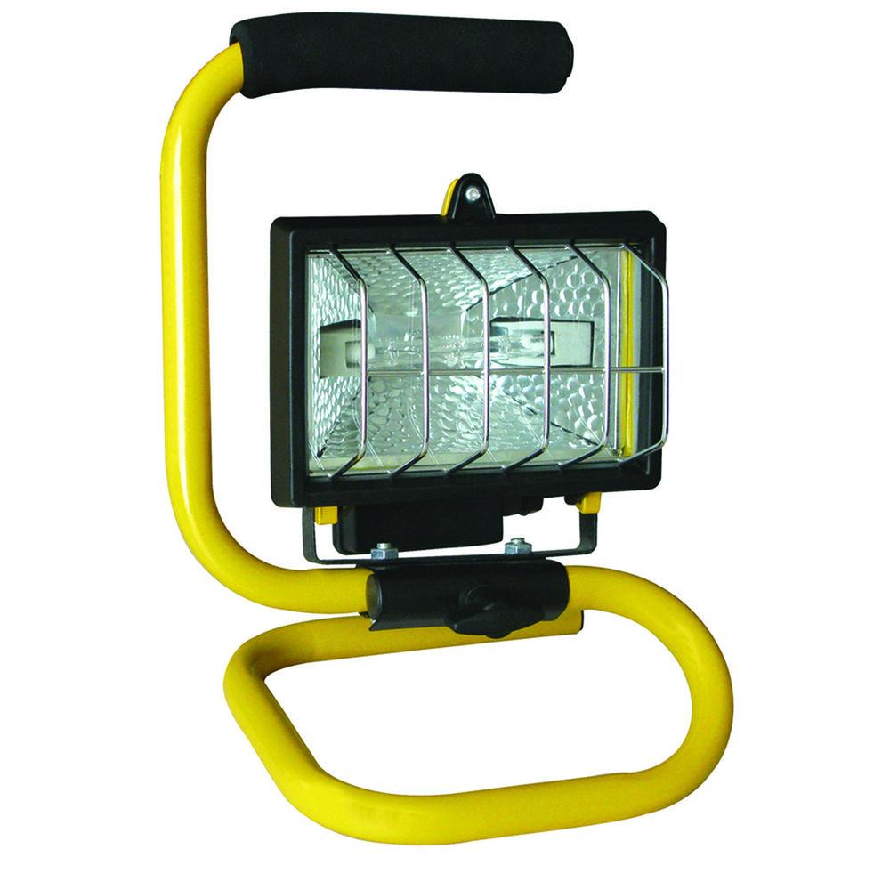 Floodlight Portable Halogen Yellow 150 Watt Supercheap Auto 0800 Handyman Changing A Light Fitting Wiring New Zealand