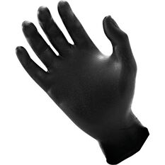 SAS Raven Nitrile Gloves - Black, Medium, 100 Pieces, , scanz_hi-res