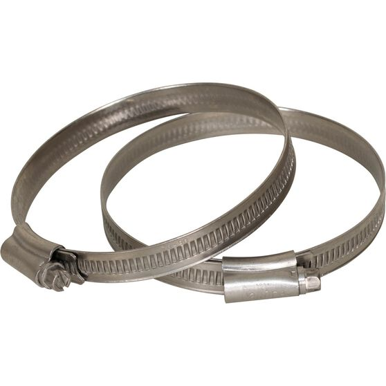 Calibre Hose Clamps - Stainless Steel, Solid Band, 70-90mm, 2 Pieces, , scanz_hi-res
